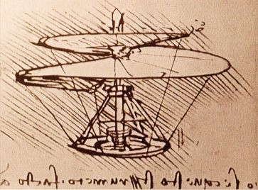 Leonardo da Vinci's Vertical Flying Machine