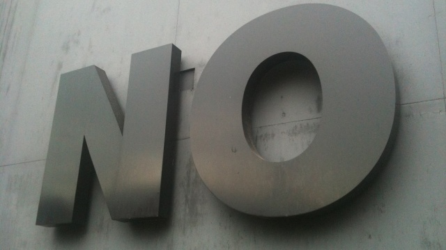 No by sboneham used under Creative Commons License